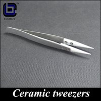 tweezers - E cigarette tools ceramic Tweezers Rebuild tool Heat Resistant Stainless Steel replacement ceramic heads for rda kanthal wire coils wick DIY