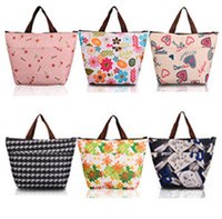 Wholesale 2015 new fashion print thickening thermal bags lunch bag large thermostat with warming bag cooler bags JIA199