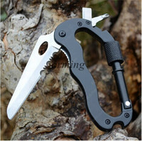 aluminum equipment - 2015 new In Outdoor Survival Tool Aluminum Multifunctional Knife Mountaineering Hang Buckle Bottle Opener Hiking Camping Equipment