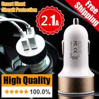 Wholesale Dual USB Charger Metal Auto Smart Car Chargers Adapter USB Port Sync Charge For Samsung Galaxy HTC Blackberry Nokia SONY LG S5 S4
