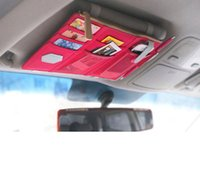 Wholesale Multifunction Car Organizer Sun Visor Point Pockets Oxford Cloth Bag Pouch Cars Mini Storage Container Bags