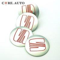 acura alloy wheels - Exterior Accessories Emblems mm Silver Aluminum Wheel Centre Emblem Sticker for Alhambra Toledo Leon Seat Wheel Center Badge Decal