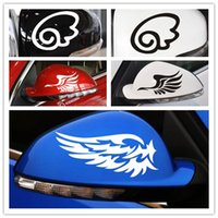 Wholesale Hot Sale Reflective personalized car stickers reflective stickers fashion Rearview mirror stickers a pair of wings car styling style