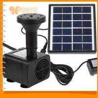 Fuerte Estabilidad Mini Accionado Solar de la Fuente Solar Decorativa de la Bomba de Agua para Plantas de Jardín, Piscina Estanque de Rocalla de Riego Kit