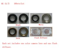 Wholesale G4740810AM Sets by AM High Quality Guarantee for iPhone Rear Camera Lens Tempered Glass Flash Diffuser Black White Gold
