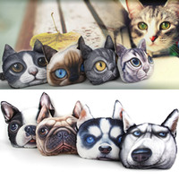auto headrest cover - New J2 Print Dog Cat Face Car Headrest Covers Supplies Neck Auto Safety Pillowcase Designs Pillow Stuffed Plush Car Holder Handger Cushion