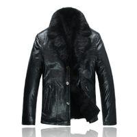 beaver fur jackets - Fall EMS genuine leather beaver fur coat big size garment sheepskin men s winter jacket