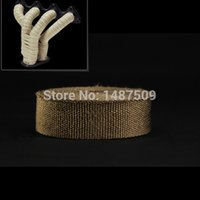 Cheap Free shipping natural color titanium fiber 2inch*30meter exhaust pipe wrap for turbo insulation