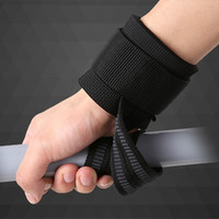 Wholesale Weightlifting bandages pair Pull up wrist support band Gym training wrap belt Weight lifting glove