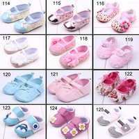 Wholesale Baby Toddler Shoes Baby Kid Fist Walker Shoes Newborn Shoes Soft Sole Cotton Camo Antiskid Shoes For Girls Boys DHL Free Drop Shipping