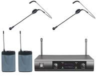 professional karaoke system - PROFESSIONAL UHF DUAL CORDLESS HEADSET HEADWORN MICROPHONE MIC SYSTEM