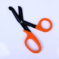Wholesale EDC Gear Curved Blade EMT Shears Bandage Paramedic Trauma Medical Scissors First Aid Tactical Survival Equipment