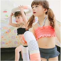 Girl One-piece 2T-3T 2014 New Arrival Children's Swimwear Girls' Two-piece Swim Skirt Lovely Lace Bikini Baby's Bathing Suits
