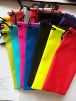Wholesale Hot waterproof sunglasses Cases soft eyeglasses bags glasses pouch Phone bags Glasses Cases many colors mixed cm