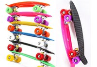 Wholesale four wheel street longboard fish skate board pastel color banana board mini cruiser long skateboard inch