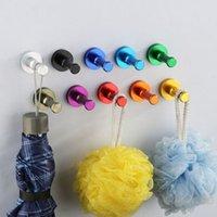 Wholesale Space Aluminum Robe Hooks Home decoration Single Hook Single Hat Coat Robe Door Wall Hook Hanger
