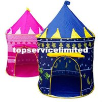 Wholesale Baby Lovely Prince Princess Palace Castle Children Play Tent Toy Indoor Outdoor Blue Pink Toys Kids Gift