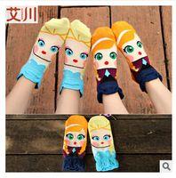 Wholesale elsa anna socks High quality girls stereoscopic laciness cartoon Mermaid princess Snow White Jasmine Princess Fiona pure cotton socks
