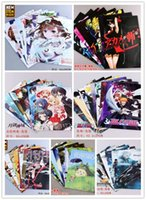 anime art fantasy - 56pcs Akame ga KILL Totoro SAO BLEACH Final Fantasy Hoozuki Toaru Anime posters x29cm