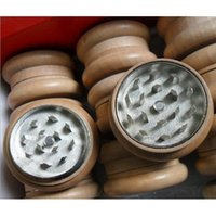 Wholesale 12pcs parts mm mm g WOODEN HERB GRINDER Metal CNC teeth loadstone SKU S001