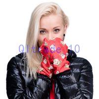 Wholesale 1000PAIR LJJH1068 New Winter keep warm Women Men Soft emoji Flag Galaxy Leaf D Cartoon printing gloves and hot cute gloves