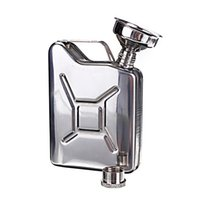 Wholesale New Arrivals oz Hip Flasks Liquor Whisky Pocket Bottle Funnel Portable Flagon Drinkware Stainless Steel C485