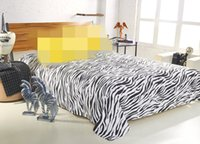 best cheap sheets - Bed Sheet Polyester Cotton PC Bedding Set bed linenTwin Full Queen King size best cheap new design zebra pattern flat sheet