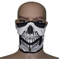 Wholesale Reasonable SWAT Motorcycle Wear Black White Froral Men Skeleton Polartec Party Cosplay Costume Masks