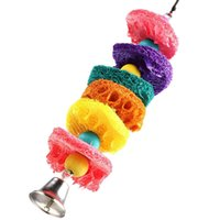 Wholesale Bird Toy Parrot Toys Cages Cockatoo Chew Masticate Paw Loofah Sponge