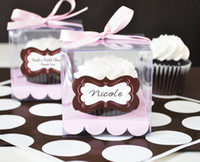 cupcake boxes - Transparent Cupcake Boxes Single cupcake box plastic box single cupcake box cake box with stick