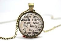 alloy dictionary - 10PCS Teach Dictionary Definition Teacher Necklace