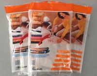 Wholesale 2015 cm Large Vacuum Storage Bag suit storage bags Compressed storage containers Space Saver Seal Bags Mix colors NX1
