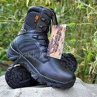 Wholesale MENS TACTICAL OUTDOOR HUNTING LINGHTWEIGHT COMBAT BOOTS Mid Calf BLACK IN SIZES