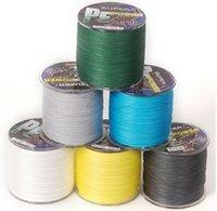 10lb-100lb braid fishing line - 500m PE dyneema exterme braided fishing line dark green white black grey yellow blue