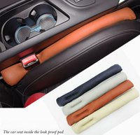 Wholesale 2 set Supply Car Seat Crevice Gap Stopper Cover Leakproof Protective PU Leather interior seat cover Car Accessories New