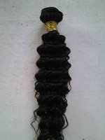 Wholesale 50 off real human hair weave extensions deep wave natural color A virgin brazilian hair weft for black woman