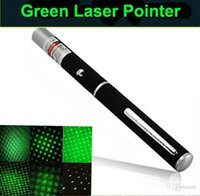 Wholesale 2in1 Star Cap Pattern nm mw Green Laser Pointer Pen Star Head Laser Kaleidoscope Light mw Laser Pen LED Laser Pointers Green Light