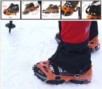 Wholesale Oudoor Climbing Anti skid Shoes Cover Eight Tooth Silicone Ice Crampons Gripper Snown Boot Chain os112