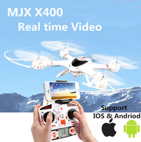 Wholesale MJX X400 X400 V2 axis Gyro CH RC Quadcopter Drone RC Helicopter C4005 WiFi FPV Camera D Rolling Headless mode One button return