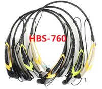 Wholesale HBS HBS Wireless Bluetooth Stereo Headset Earphones Sport Headsets In ear Headphones Multi Color For note4 S5 iphone6 DHL FREE Hot