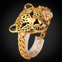Wholesale Leopard Platinum K Real Gold Plated Bracelet For Women Men Jewelry Fashion Fine Jewelry Vintage Big Bracelet H727