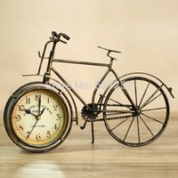 bicycles vintage style - iron classical fashion vintage clock fashion antique clock bicycle clock