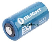 Wholesale 100 Brand New Olight CR123A V mAh Lithium Battery Blue High Quality Durable Safety Flashlight Battery order lt no trac