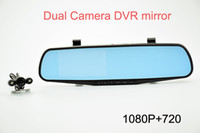 Wholesale Hot promotion inch screen dual camera car dvr good quality car black box car rearview mirror dvr for sale