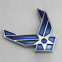 air force decorations - Blue Silver USAF US Air Force Chrome Metal Styling Car Emblem Badge D Car Sticker Refitting Decal Auto Exterior Logo Decoration