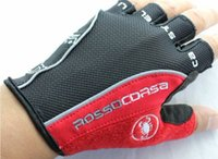 Wholesale New Castelli Rosso Corsa Bicloves scorpions mountain bike riding silicone GEL gloves ycle half finger Cycling G