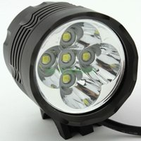 Wholesale 5 x Cree XM L T6 T6 Lumens In LED Modes Bike Light Bicycle Front Lamp Headlight Headlamp V Battery Pack
