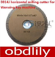 angle cutters milling - Original Raise High speed steel double angle cutter J horizontal milling cutter for Wenxing key machine G2 locksmith