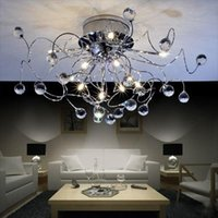 Wholesale Chandelier led chandelier lamps light Chrome K9 Crystal Chandelier NEW