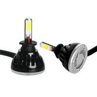 car rear led lights - 1 pair Super Bright W LM LED Heamdlamp Headlight Hi Lo Beam High Power Car Headlight H1 H3 H4 H7 H11 H13
